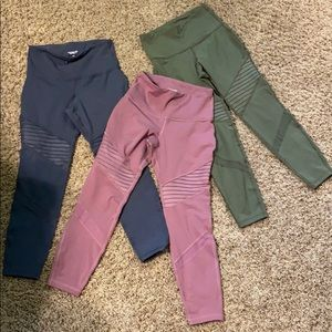 Three pairs old navy leggings